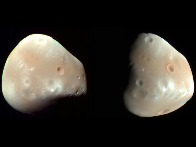 The Night Sky on Mars - Looking at Deimos